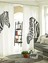 Två paneler Fönster Behandling Designer, Tryck Djur Sovrum Linne/Bomull blend Material gardiner draperier Hem-dekoration