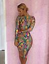 Femei Vânzare Hot imprimare Snakeskin Color contradictorii Dress