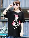 Femei de înaltă calitate de imprimare libere Big Yards cu maneci scurte T-Shirt Modal Stretch libere Big Yards Skull T-Shirt