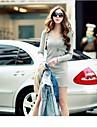 Femei de moda Tricotaje V Neck Mini rochii