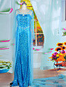Costume Party Halloween Forzen Reine Elsa Bleu Paillette femmes