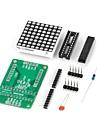 DIY roșu max7219 condus dot modul de afișare matrice pentru (pentru Arduino) (funcționează cu (pentru Arduino) placi oficiale)