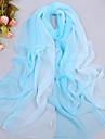 femei elegant albastru vânt zi ecran solar total sifon eșarfă