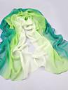 Femei Elegant verde-alb Vânt Ziua ecran solar total șifon Eșarfă