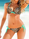 Mannisilin femei Floral Print Jammer Push-Up Special V Neck Bikini