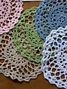 Uppsättning av 12, Virka Doilies Coaster, 5 Färger Tillgängliga