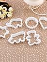 Plast Animal Cookie Cake Mould Set om 6 st