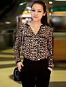 CoCo Zhang femei coreeană Loose Fit maneca lunga șifon Bluza