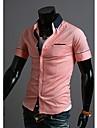 Glory tricou cu guler cu maneci scurte Contrast culoare Cămașă