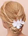 Femei Fata cu Flori Bumbac Material Textil Diadema-Nuntă Ocazie specială Exterior Flori