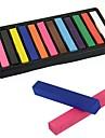 Facile temporaires 12 couleurs non toxiques Chalk Hair Dye souple Pastels cheveux Kit 11676
