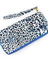 2014 Fashion Design Leopard Stil Portofel cu fermoar Rafinat din piele PU