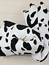 Kigurumi-tofflor Ko Onesie-pyjamas Kostym Polyester Cotton Svart/Vit Cosplay För Pyjamas med djur Tecknad serie halloween Festival /