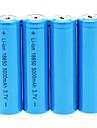 18650 Batterier Uppladdningsbart Lithium-ion Batteri 5000 mAh 4pcs Uppladdningsbar för Camping/Vandring/Grottkrypning
