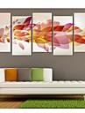 Stretchad Kanvastryck Kanvas set Abstrakt fantasi Fem paneler Vertikal Tryck väggdekor Hem-dekoration