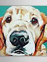 HANDMÅLAD Djur Fyrkantig Duk Hang målad oljemålning Hem-dekoration En panel