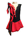 Femme Robe de Patinage Artistique Robe de Patinage Sans Manches Jupes Robes Bas Respirable Faible Frottement Douceur Elastique Fait a la