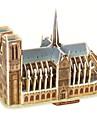 Pussel 3D-pussel Byggblock DIY leksaker kända byggnader Paper Beige / Grå Modell- och byggleksak