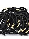 (6PC) simple și practice Benzi elastice de înaltă Negru elastice de par