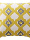 artistice romb suprapuse galben zăbrele panza de bumbac perna decorativa