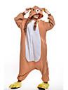 Kigurumi Pijamale Urs Costume Portocaliu Lână polară Kigurumi Leotard / Onesie Cosplay Festival / Sărbătoare Sleepwear Pentru Animale