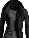 Moda INMUR bărbați negru Jachete de înaltă Fit Neck