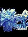 ren blå purfle blomma plast halvmask