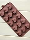 15 gaura matrite inima forma de inima piersic tort de gheață jeleu de ciocolată silicon