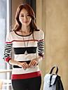 Noul tricou cu guler rotund subțire coreean cu maneca lunga bottom tricotaje pulover bottom femei Clement