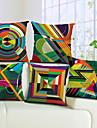 set de 5 colorat geometric bumbac / lenjerie de pernă decorativă capac