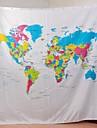 """vina """"harta lumii"""" creative perdea de dus Europene baie stil Dacron - alb + albastru"""