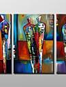 Hang målad oljemålning HANDMÅLAD - Abstrakt Duk Tre paneler