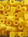 aproximativ 500pcs / sac de 5 mm margele galbene siguranțe margele HAMA puzzle DIY eva safty materiale pentru ambarcațiuni copii