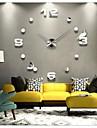 """39""""W DIY 3D Mirror Acrylic Sticker Wall Clock"""