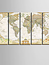 Εμπριμέ Κυλινδρικές καμβά εκτυπώσεις - Χάρτες Κλασσικό Ρεαλισμός Πεντάπτυχα