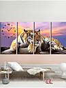4 buc / set tigru perete autocolant perete ceas acasă decorare fundal imagine