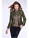 European Fashion maneca lunga haină de culoare solida kakani femei