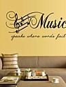 Muzică Cuvinte & Citate Perete Postituri Autocolante perete plane Autocolante de Perete Decorative,Vinil Pagina de decorare de perete