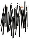 20st professionella kosmetika borstar set pulver foundation ögonskugga eyeliner läppensel verktyg