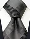 Bărbați Solid Birou Mătase,Cravată Gri