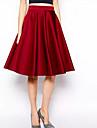 femei vancoog este o linie fusta de culoare solidă