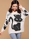rotund pulover guler pisica femei