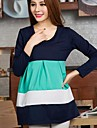 femeile de moda rochie de maternitate rotund rochie de culoare rochie (mai multe culori)