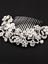 Crystal / Fabric / Alloy Tiaras / Hair Combs / Flowers with 1 Wedding / Special Occasion / Party / Evening Headpiece