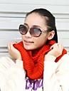 iarna unisex din tricot de culoare solida fire termic gulere eșarfă tobei de eșapament
