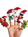 Jul Tomtekostymer Elk Snögubbe Leksaker Fingerdocka Djur Talande Tecknat Plysh Flickor Pojkar