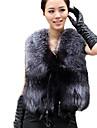 femei luotiduodi faux scurt haină de blană cu guler de blană
