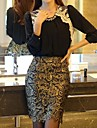 Women's Fashion OL Style Slim Sexy Lace Pencil Skirt