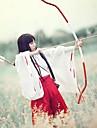 Perruques de Cosplay InuYasha Kikyo Noir Long Anime Perruques de Cosplay 80 CM Fibre resistante a la chaleur Feminin