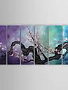 Hang-pictate pictură în ulei Pictat manual - Floral / Botanic Contemporan pânză